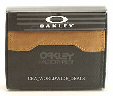 NEW Authentic Oakley Factory Pilot Men's Leather Wallet - Jet Black - 95142-01K