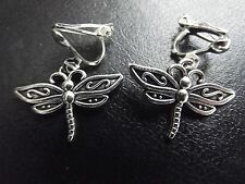 Dragonfly Clip On Earrings