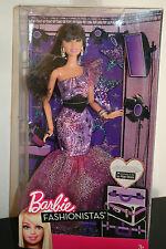 RARE NRFB BARBIE BRUNETTE FASHIONISTAS EVENING GOWN PURPLE NRFB 2012 SUPERBE