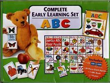 Complete Early Learning  ABC Box Set - NEW  MINT - Books, Cards, Puzzle, Poster