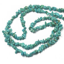 "Turquoise Freeform Nugget Chips Gemstone Beads Strand 34"" Jewelry Making"