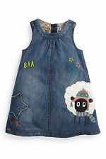 BNWT NEXT SHEEP DENIM DRESS SIZE 5-6 YEARS