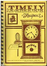 MASSACHUSETTS *TIMELY RECIPES *MA WATCH & CLOCK COLLECTORS 1980 VINTAGE COOKBOOK