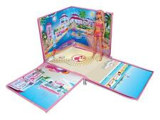 Barbie Zip Bin -- 40 Doll Beach House -- Storage Container --