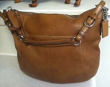 Extra Large Tan Leather COACH Hobo Distressed Camel Beautiful!