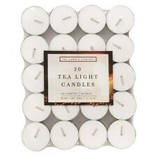 Tealight Candles - 20 Pack Unscented Candle For Home, Patio, Gardens, Outdoors
