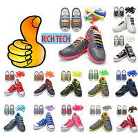 12 Elastic Silicone Shoelaces No Tie Laces Shoe Sneakers Trainer Kids Children D