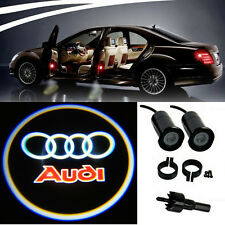 2 Audi Logo LED Light Bulbs Projection Courtesy Lights Decorative Tuning Fashion