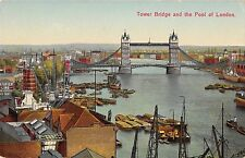 BR93496 tower bridge and the pool of london ship bateaux   uk