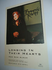 BONNIE RAITT POSTER 1994 30INCH X 20 LONGING IN THEIR HEARTS UNRELEASED VINTAGE