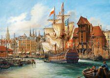 Puzzle Castorland 1000 piezas-el viejo Danzig, Polonia (40899)