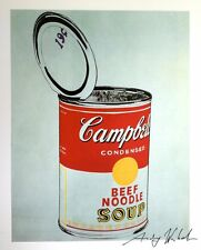 NOSTALGIC ANDY WARHOL HAND SIGNED PRINT * BIG CAMPBELL'S SOUP CAN * 1986  W/COA