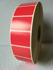 5000 Red Labels on roll - blank, sticky labels, 38 mm x 25 mm,Thermal Transfer