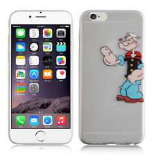 COVER BRACCIO DI FERRO ULTRA SLIM 0,1 mm IN TPU TRASPARENTE PER IPHONE 6 PLUS