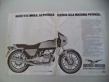 advertising Pubblicità 1983 MOTO GUZZI V35 V 35 IMOLA