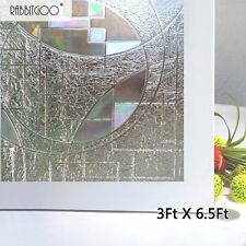 3D Static Cling Privacy Window Grass Film Frosted Superior No-Glue 90 X 200cm