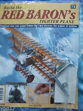 BUILD THE RED BARON'S FIGHTER PLANE FOKKER DR1  HACHETTE  ISSUE 73  NEW SEALED