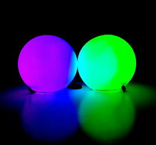 Rave Poi Glowing Balls Spinning Pair EDM festival gear toy raver glow light up