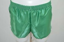 SHORT DE COURSE GAY NYLON VINTAGE RETRO S VERT NEUF