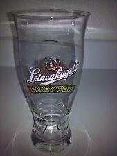 """Leinenkugel's Honey Weiss Set Of 6 Clear 8"""" Pilsner Glasses New"""