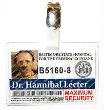 Silence of The Lambs Hannibal Lector ID Badge Cosplay Prop Costume Halloween