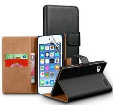Genuine Real Leather Wallet Case for Apple iPod Touch 6 6G 6th Generation Gen