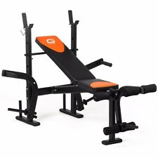 Folding Weights Bench Adjustable Multi Home Gym Fitness Chest Bicep AB Execise