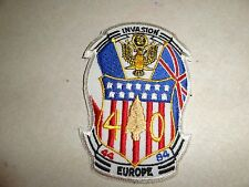 US MILITARY PATCH INVASION EUROPE 1944-1984 40 YEARS OLDER SEW ON