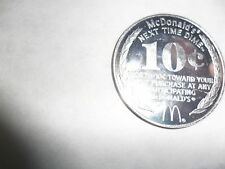 10 McDonald's NEXT TIME DIME 10 CENT OFF NEXT PURCHASE GOOD THROUGH JAN 1982
