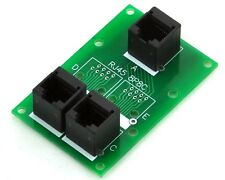 RJ45 8P8C Splitter Board, 3 Jacks Connector, Buss Board, MD-D239A-1