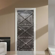 Iron Gate 3D Wall Sticker Decal Art Decor PVC Home Room Door Wallpaper Mural