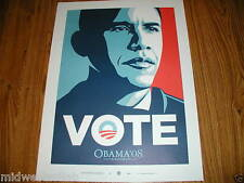 Shepard Fairey President Barack Obama Small VOTE Art Print Poster Obey Giant