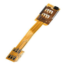 Dual Sim Card Adapter Flex Cable Single Standby Ribbon For iPhone 6 5S 5C