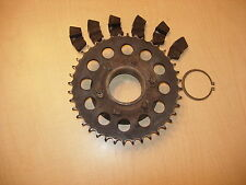 Motorcycle Back Sprocket And Wheel Hub That Came Off Of a 1976 Suzuki TS 400