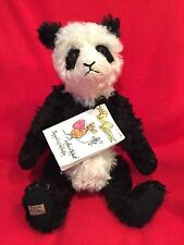 """14"""" THE LAND OF MERRY LIGHTS """"MI CHARLY"""" MOHAIR PANDA COLLECTIBLE"""