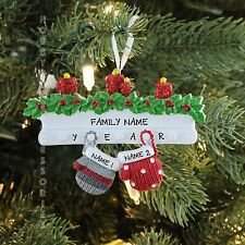 MITTEN FAMILY OF 2 COUPLE OUR FIRST CHRISTMAS 2016 PERSONALIZED TREE ORNAMENT
