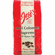 Jose's 100% Colombia Supremo Whole Bean Coffee, 3 lbs