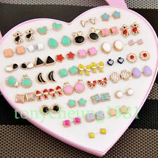 Wholesale lot 36 pairs cute girl mixed style colorful earrings ED398