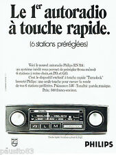 PUBLICITE ADVERTISING 106  1970   Philips  autoradio Turnolock
