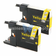 2 YELLOW LC71 LC75 Compatible Ink Cartridge for Brother LC75Y HIGH YIELD LC71Y