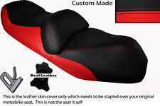 BRIGHT RED & BLACK CUSTOM FITS HONDA FJS 600 SILVERWING DUAL LEATHER SEAT COVER