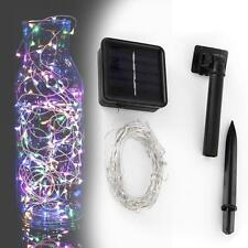 10M Solar String Light Chain 100 LED Copper Wire Outdoor Party Lamp Colorful SS