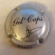Capsule de champagne GASPARD-BAYET cuvée gil'caps (12e. métal et noir)