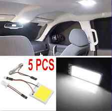 5x 48 SMD 4W COB Panel Lights LED Car Interior 12V Lamp Bulb Dome White Light