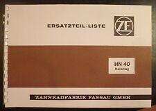 ZF Hanomag Nachschaltgetriebe HN40 Ersatzteilliste