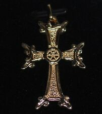 14k Gold Cross Pendant Weighs 7.7 grams