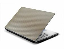 Laptop Skin Sticker GOLDEN 3D Carbon Design Size 12x15 inches free size fit all