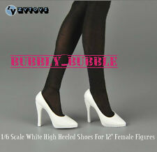1/6 Female High Heeled White Shoes For Phicen Hot Toys Figures SHIP FROM USA