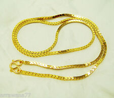 22K 23K 24K THAI BAHT YELLOW GP 24 inch NECKLACE Jewelry Gold  No.58