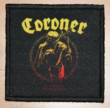 """CORONER """"PUNISHMENT FOR DECADENCE"""" silk screen PATCH"""